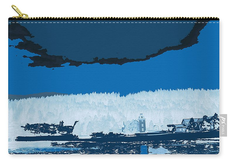 Norway Landscape Carry-all Pouch featuring the digital art Snowy Landscape by Augusta Stylianou