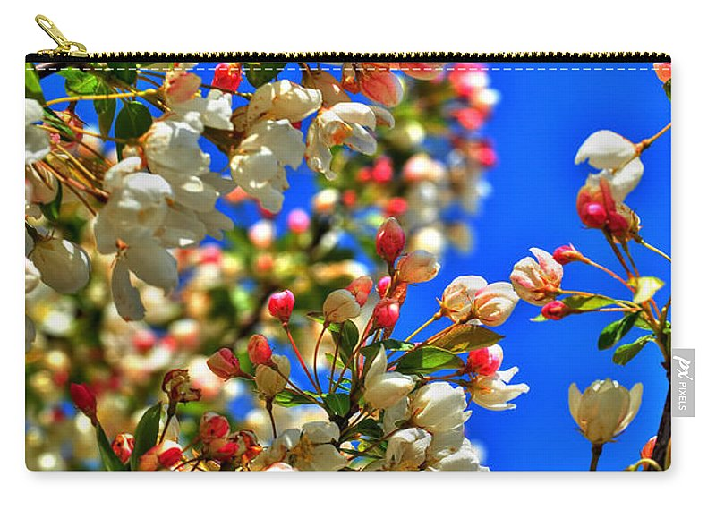 Carry-all Pouch featuring the photograph Spring Blossoms by Michael Frank Jr