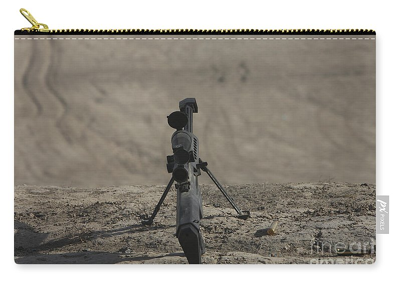 Kunduz Carry-all Pouch featuring the photograph The Barrett M82a1 Sniper Rifle by Terry Moore