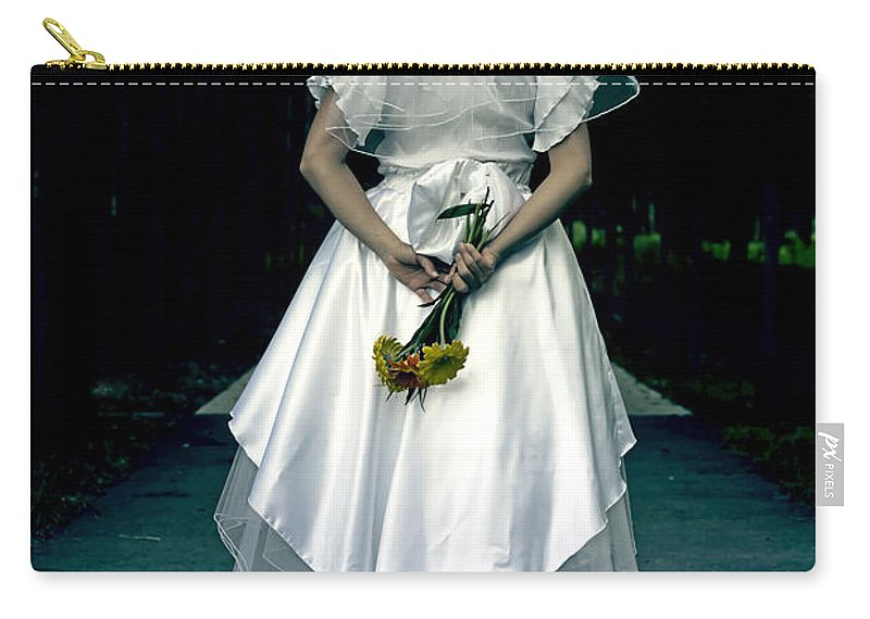 Female Carry-all Pouch featuring the photograph The Bride by Joana Kruse