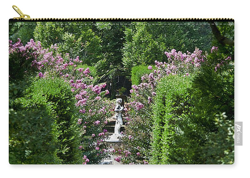 Crape Myrtle Carry-all Pouch featuring the photograph The Elizabethan Gardens by John Greim