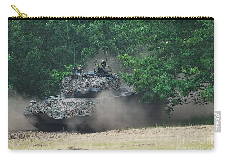 Military Carry-all Pouch featuring the photograph The Leopard 1a5 Main Battle Tank by Luc De Jaeger