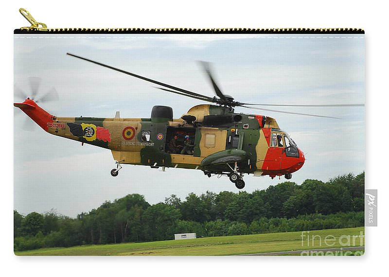 Adults Only Carry-all Pouch featuring the photograph The Sea King Helicopter Of The Belgian by Luc De Jaeger