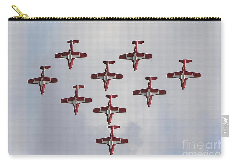 Snowbirds Carry-all Pouch featuring the photograph The Snowbirds 431 Air Demonstration by Terry Moore