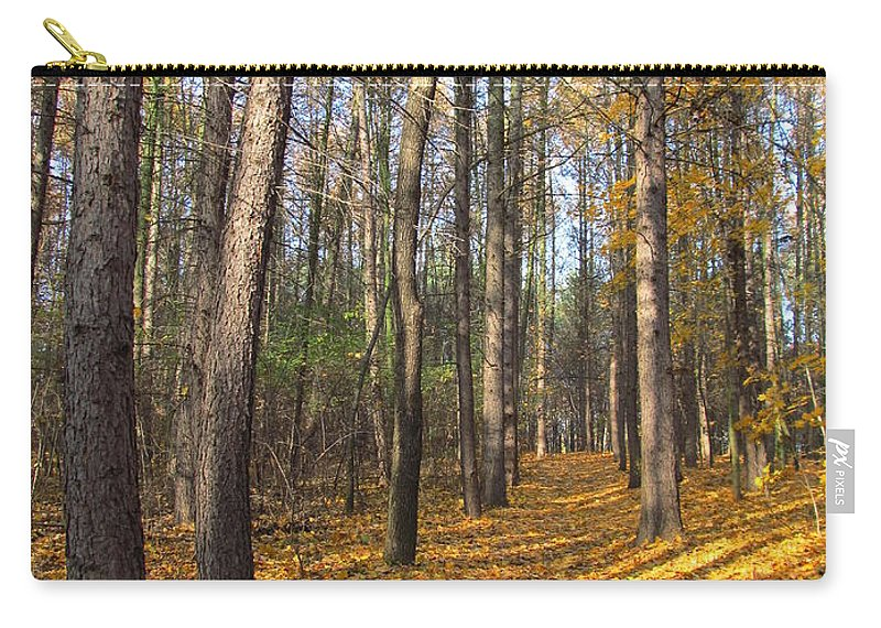 Colour Carry-all Pouch featuring the photograph Tree by Wojtek Kowalski