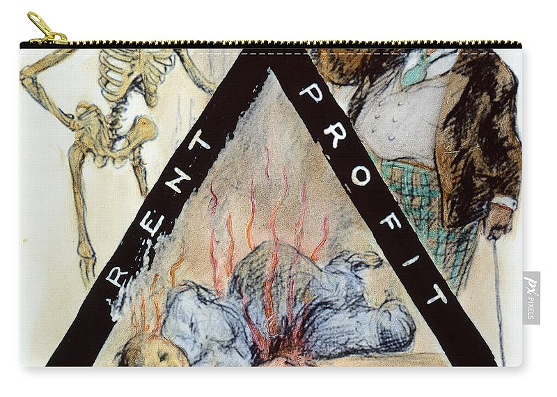 1911 Carry-all Pouch featuring the photograph Triangle Factory Fire by Granger