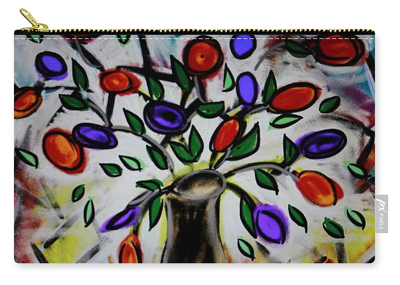 Flowers Carry-all Pouch featuring the painting Tulips by Glaucia Luz