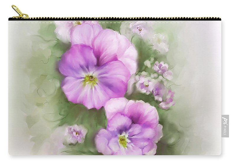 Viola Carry-all Pouch featuring the painting Viola by Bonnie Willis