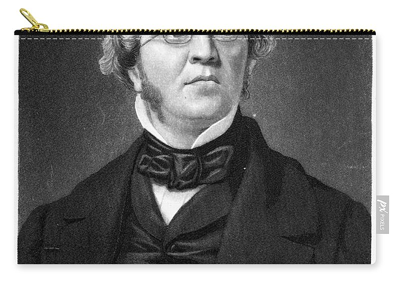 1853 Carry-all Pouch featuring the photograph William M. Thackeray by Granger