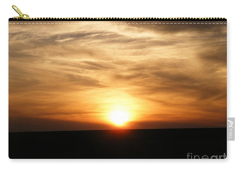 Sunset Carry-all Pouch featuring the photograph Winter Sunset by Helena Marais