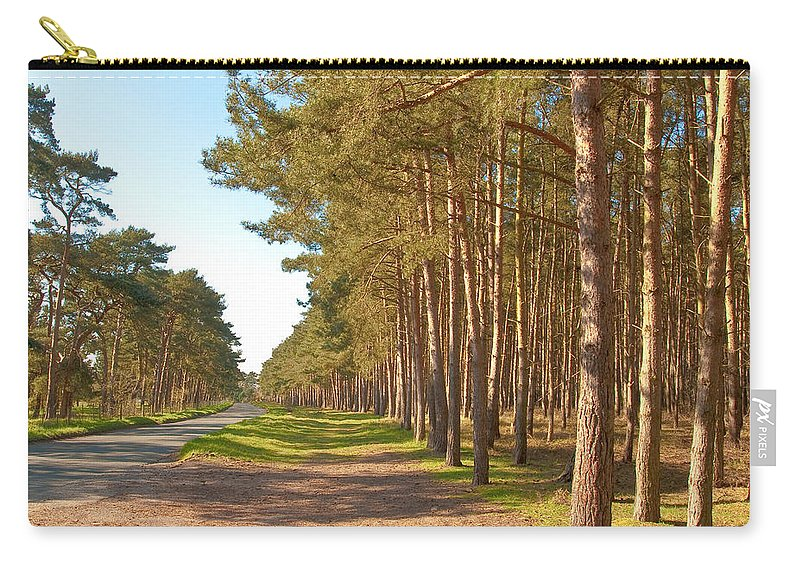 Asphalt Carry-all Pouch featuring the photograph Woodland by Tom Gowanlock