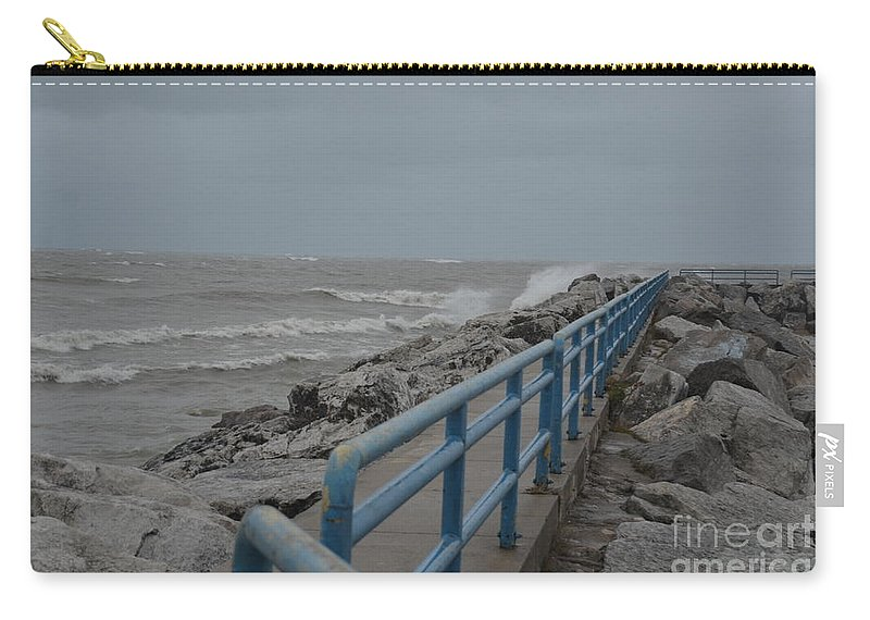 Hurricane Carry-all Pouch featuring the photograph Hurricane Sandy by Randy J Heath