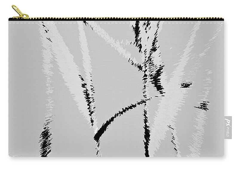 Monet Carry-all Pouch featuring the digital art Water Reed Digital Art by David Pyatt