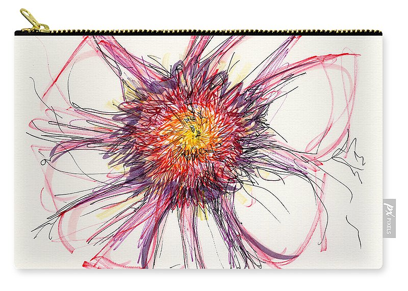 Ink Drawing Carry-all Pouch featuring the drawing 2012 Drawing #10 by Lynne Taetzsch