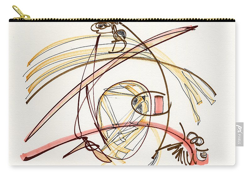 Abstract Carry-all Pouch featuring the drawing 2012 Drawing #7 by Lynne Taetzsch
