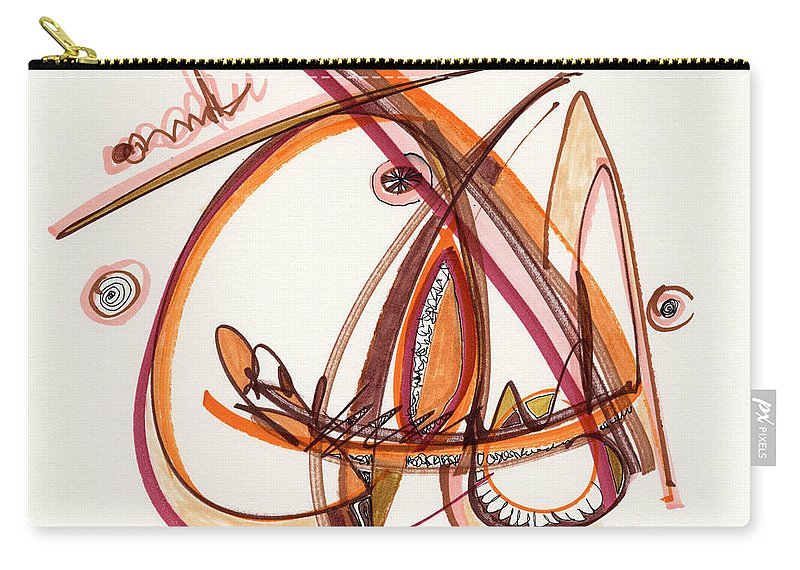 Abstract Carry-all Pouch featuring the drawing 2012 Drawing #8 by Lynne Taetzsch