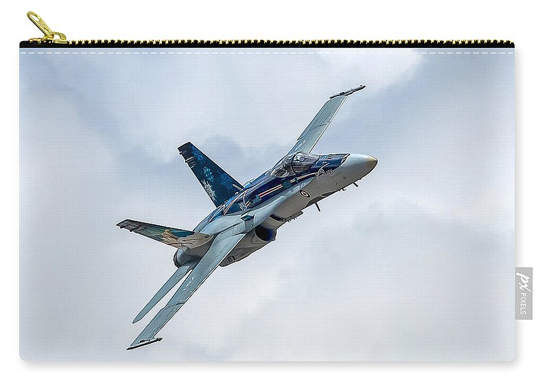 Rcaf Carry-all Pouch featuring the photograph 2012 Rcaf Hornet Demo by Bill Lindsay