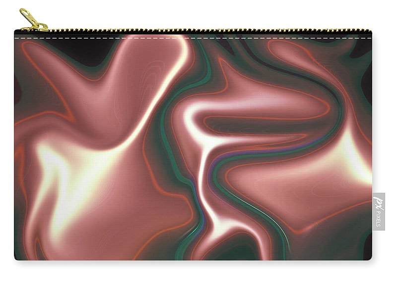 Art Carry-all Pouch featuring the digital art Abstract Pattern Art by David Pyatt