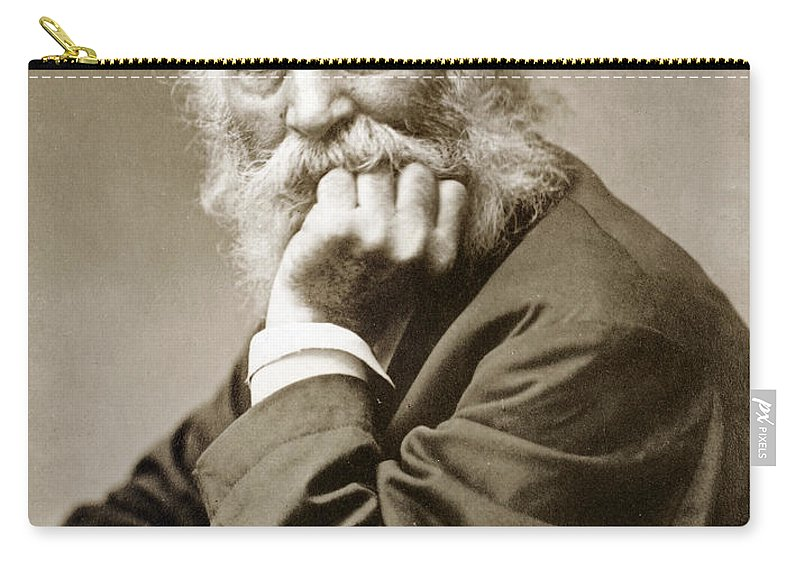 1876 Carry-all Pouch featuring the photograph Walt Whitman (1819-1892) by Granger
