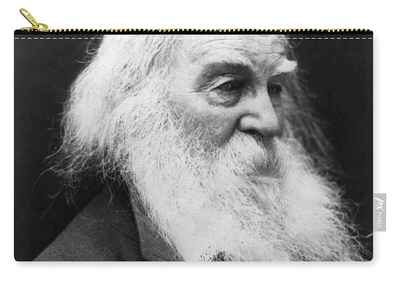 1887 Carry-all Pouch featuring the photograph Walt Whitman (1819-1892) by Granger