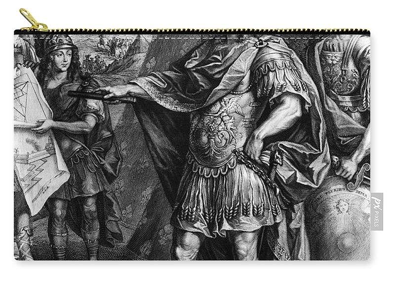17th Century Carry-all Pouch featuring the photograph Louis Xiv (1638-1715) by Granger