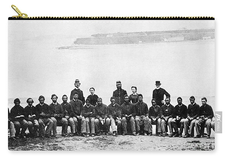 1860s Carry-all Pouch featuring the photograph Civil War: Black Troops by Granger