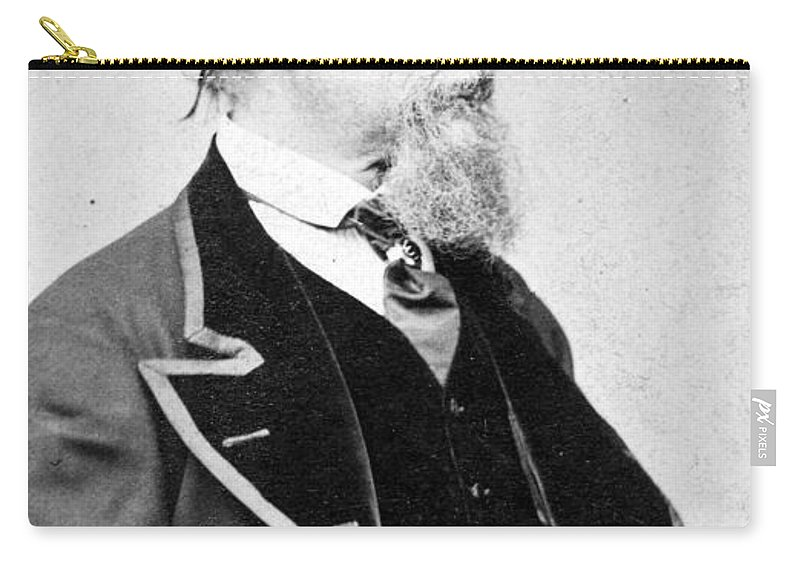 1867 Carry-all Pouch featuring the photograph Charles Dickens (1812-1870) by Granger
