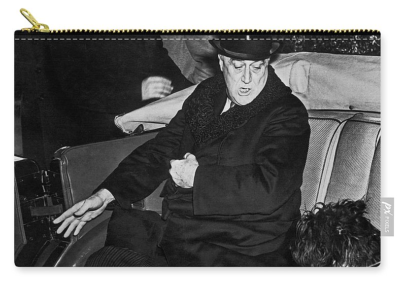 1941 Carry-all Pouch featuring the photograph Franklin D. Roosevelt by Granger