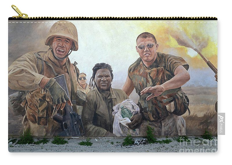Mural Carry-all Pouch featuring the photograph 29 Palms Mural 2 by Bob Christopher