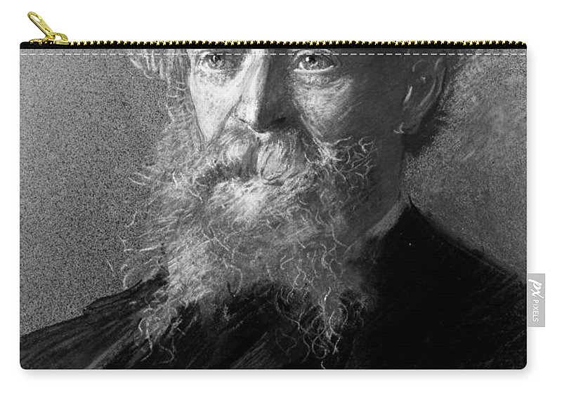 1900 Carry-all Pouch featuring the photograph Algernon C. Swinburne by Granger
