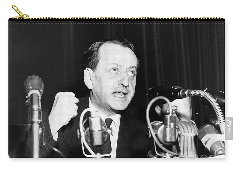 1947 Carry-all Pouch featuring the photograph Andre Malraux (1901-1976) by Granger
