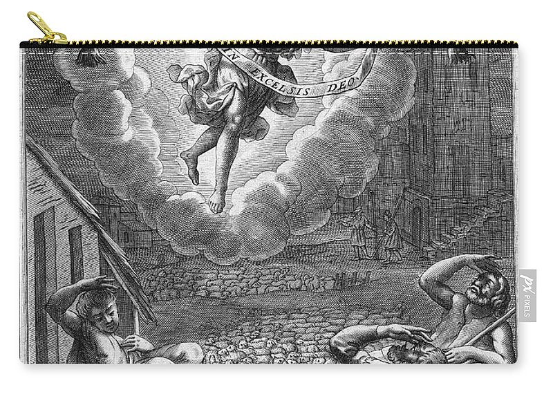 1688 Carry-all Pouch featuring the photograph Annunciation To Shepherds by Granger
