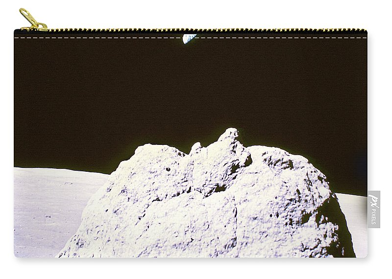 Apollo 17 Carry-all Pouch featuring the photograph Apollo Mission 17 by Nasa