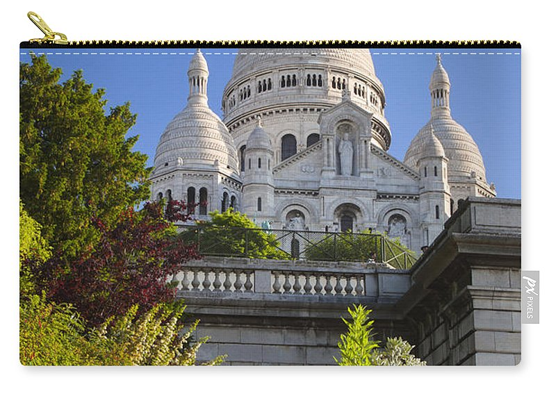Architectural Carry-all Pouch featuring the photograph Basilique Du Sacre Coeur by Brian Jannsen