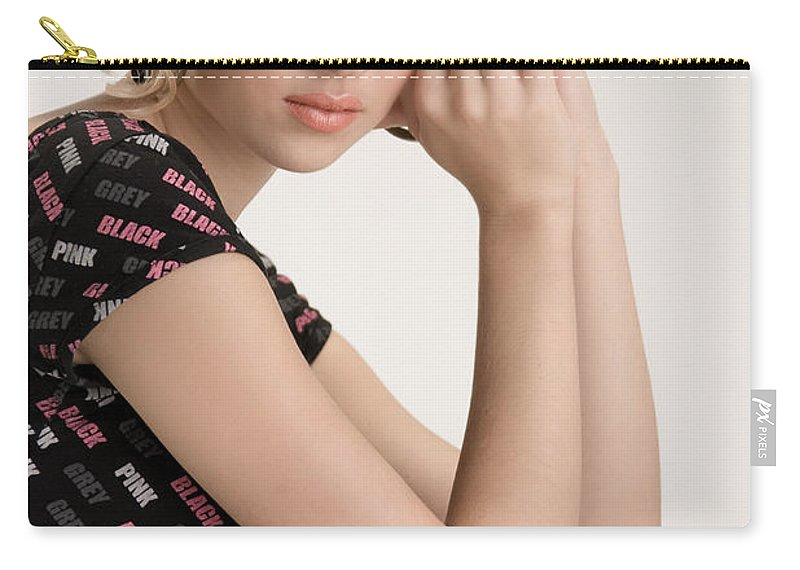 Fashion Carry-all Pouch featuring the photograph Blond Lady by Ralf Kaiser