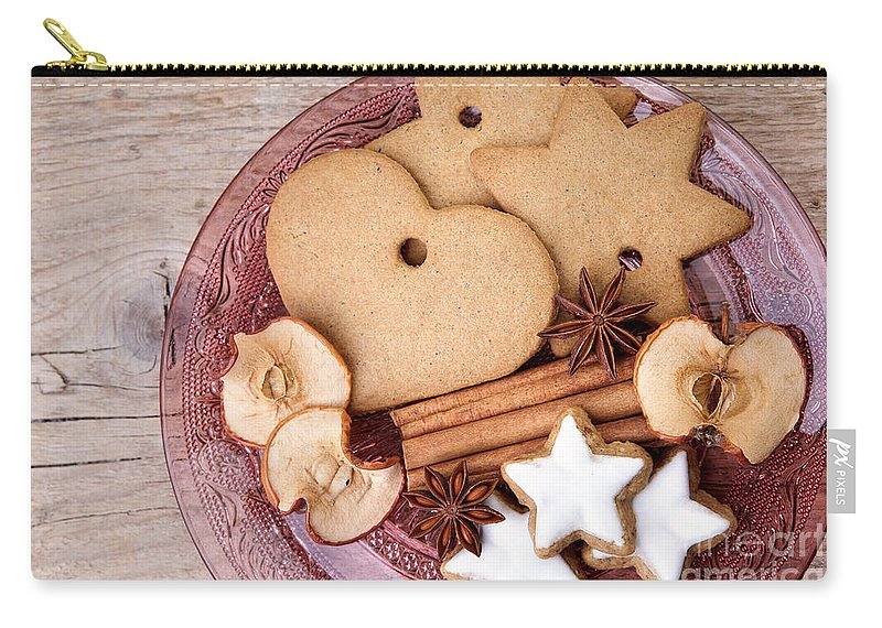 Ginger Carry-all Pouch featuring the photograph Christmas Gingerbread 3 by Nailia Schwarz