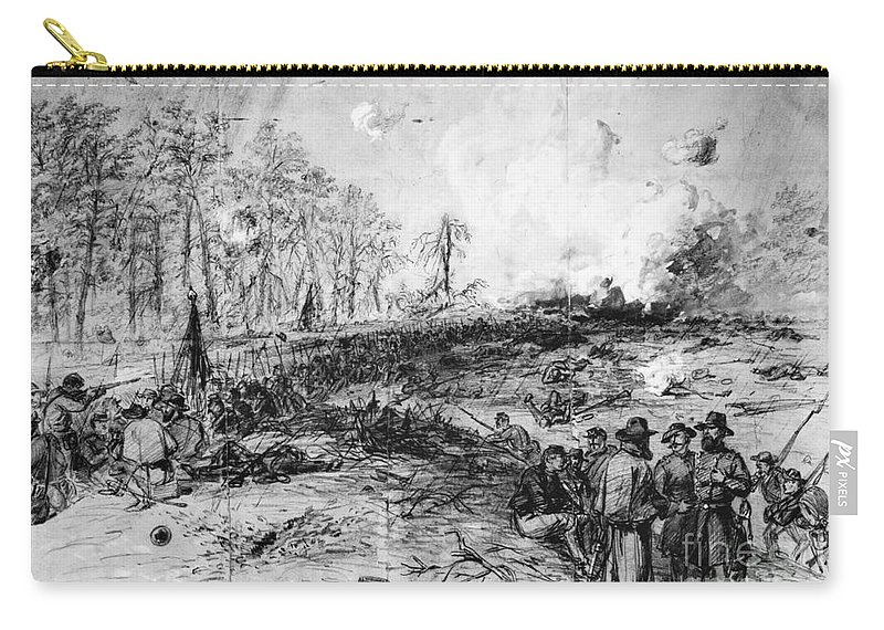 1864 Carry-all Pouch featuring the photograph Civil War: Spotsylvania by Granger