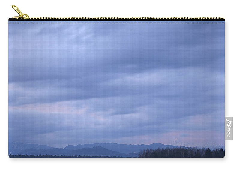 Sunrise Carry-all Pouch featuring the photograph Dawn Breaks Over Gorenjska by Ian Middleton