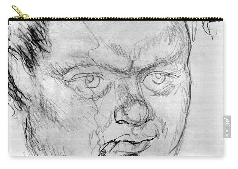 1940 Carry-all Pouch featuring the photograph Dylan Thomas (1914-1953) by Granger