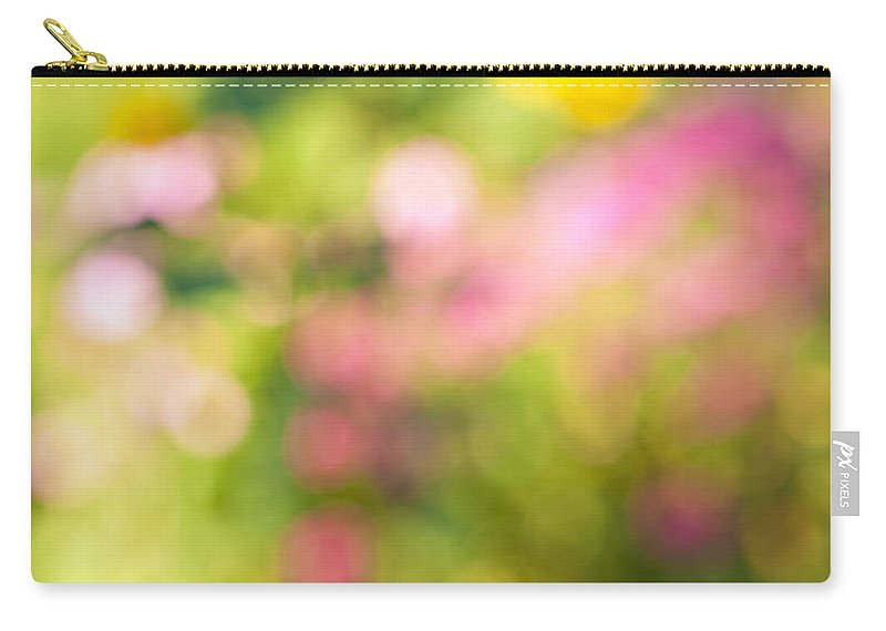 Flower Carry-all Pouch featuring the photograph Flower Garden In Sunshine by Elena Elisseeva