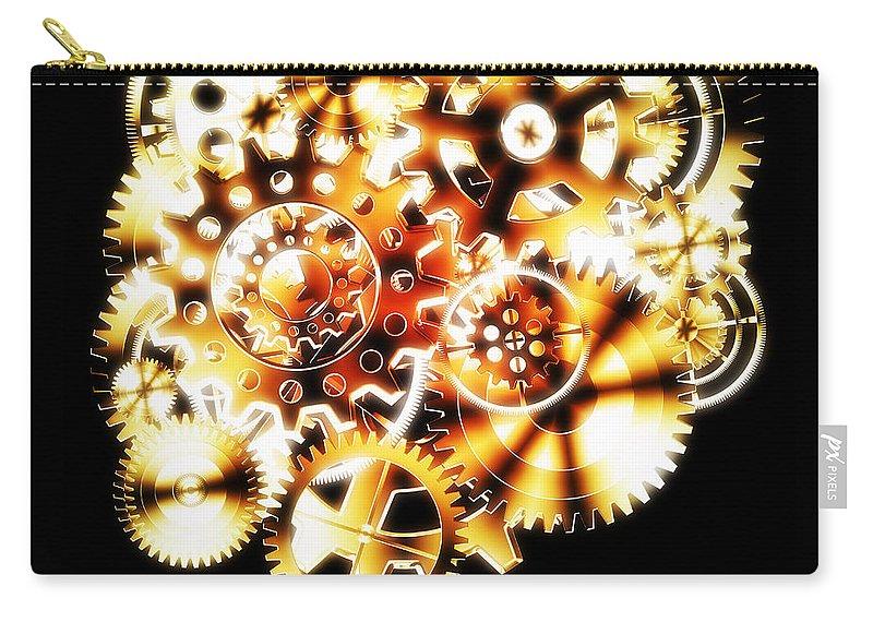 Art Carry-all Pouch featuring the photograph Gears Wheels Design by Setsiri Silapasuwanchai