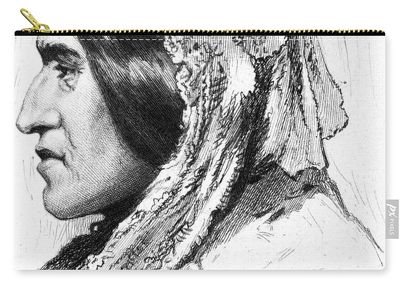 19th Century Carry-all Pouch featuring the photograph George Eliot (1819-1880) by Granger