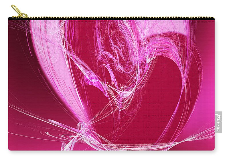 3 Carry-all Pouch featuring the digital art 3 Hearts by Andee Design