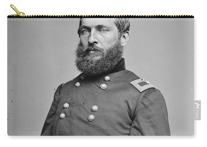 1862 Carry-all Pouch featuring the photograph James A. Garfield (1831-1881) by Granger