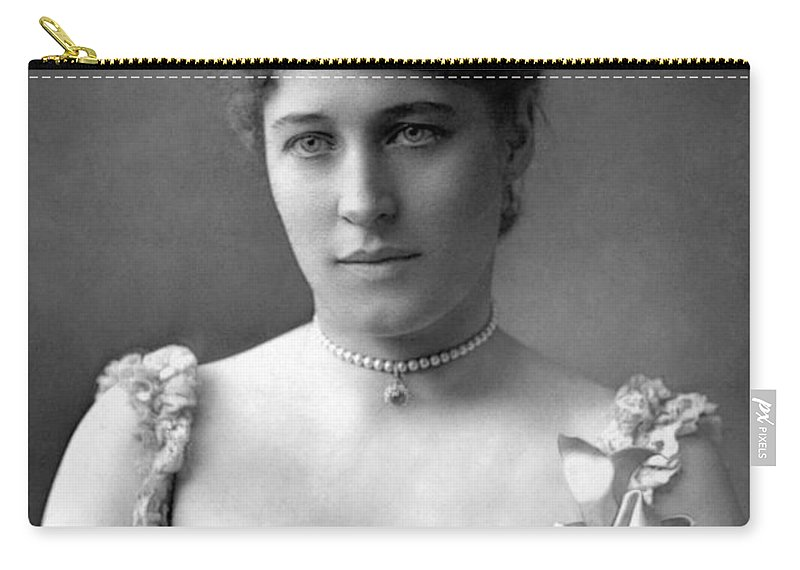1890 Carry-all Pouch featuring the photograph Lillie Langtry (1852-1929) by Granger