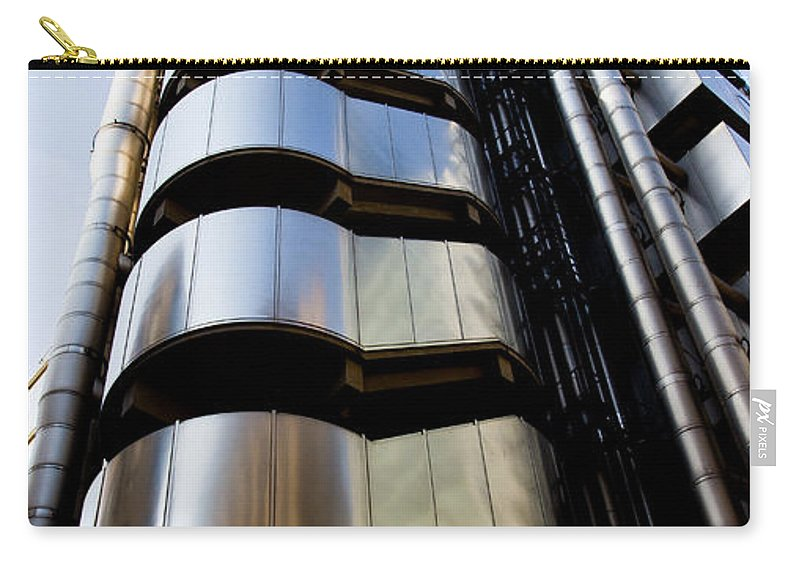 London. England Carry-all Pouch featuring the photograph Lloyds Building Central London by David Pyatt