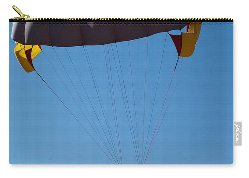 People Carry-all Pouch featuring the photograph 3 People Para-sailing Pachmarhi by Ashish Agarwal