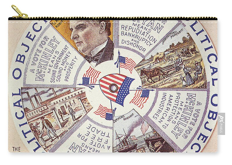 1896 Carry-all Pouch featuring the photograph Presidential Campaign, 1896 by Granger