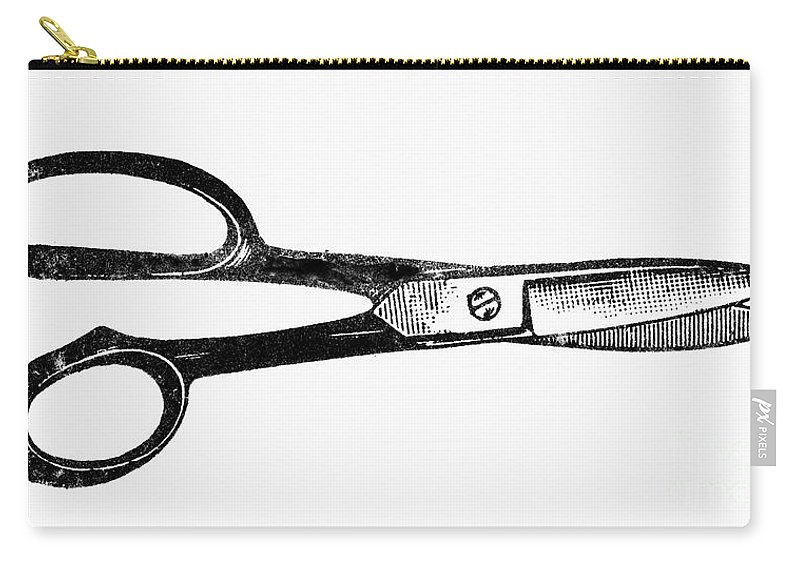 1900 Carry-all Pouch featuring the photograph Scissors by Granger