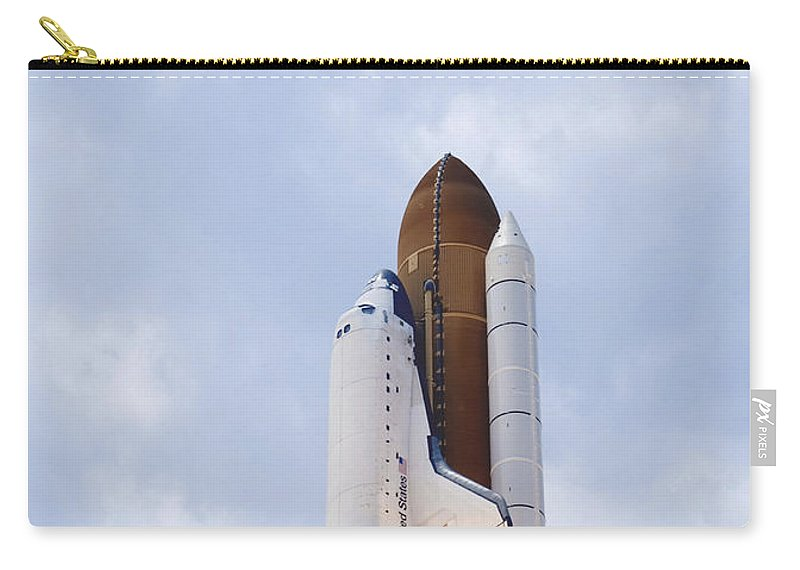 Florida Carry-all Pouch featuring the photograph Space Shuttle Atlantis Lifts by Stocktrek Images